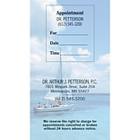 Medical Arts Press® Dual-Imprint Peel-Off Sticker Appointment Cards; Sailboat