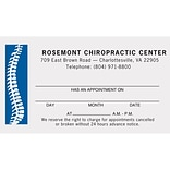 Medical Arts Press® 2-Color Chiropractic Appointment Cards; Spine