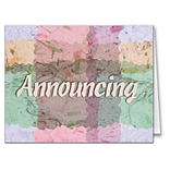 Medical Arts Press® Woven Parchment Note Cards; Announcing, Personalized