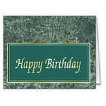 Medical Arts Press® Marble Classics Note Cards; Birthday, Blank Inside