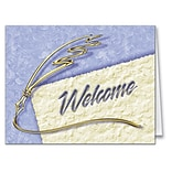 Medical Arts Press® Golden Quill Note Cards; Welcome, Blank Inside