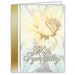 Medical Arts Press® Sympathy Greeting Cards; Flowers with Gold Band, Personalized