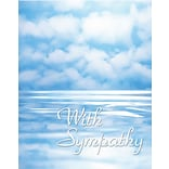 Medical Arts Press® Sympathy Greeting Cards; Ocean with Clouds, Blank Inside