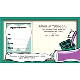 Medical Arts Press® Single-Imprint Peel-Off Sticker Appointment Cards; Standard, Toothpaste