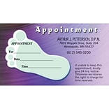 Medical Arts Press® Single-Imprint Peel-Off Sticker Appointment Cards; FootPrint