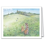 Medical Arts Press® Veterinary Greeting Cards; Pets In Meadow, Personalized