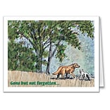 Medical Arts Press® Veterinary Sympathy Cards; Gone But Not Forgotten, Blank Inside