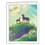 Medical Arts Press® Veterinary Sympathy Cards; Pets on Hill, Blank Inside
