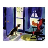 Medical Arts Press® Veterinary Greeting Cards; Pets Looking Out, Personalized