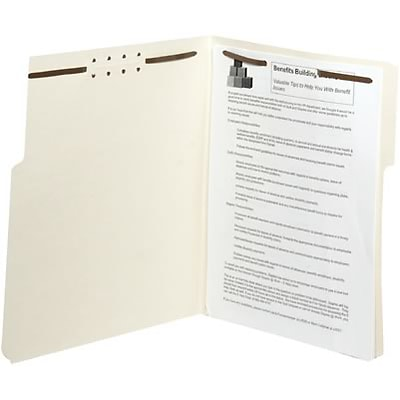 Quill Brand® Letter Size, 2-Fastener Guide-Height Folders