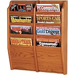 8-Pocket, Oak, Wall-Mounted Rack
