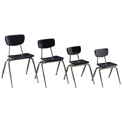Virco® 18 Stack Chair for Grades 4-Adult; Navy