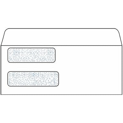 Quill Brand® Double Window Security Business Envelope; 3-5/8x8-7/8, Laser Checks, 1000/Box