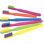 Custom Printed Toothbrushes;  Neon