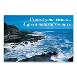 Medical Arts Press® Eye Care Standard 4x6 Postcards; Coastline, Protect Your Vision....