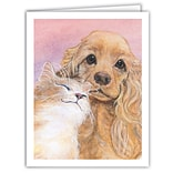 Medical Arts Press® Veterinary Greeting Cards; Cat And Dog,  Personalized