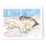Medical Arts Press® Veterinary Greeting Cards; Sleepy Pets, Personalized