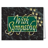 Medical Arts Press® Veterinary Sympathy Cards; Paw Prints, Personalized