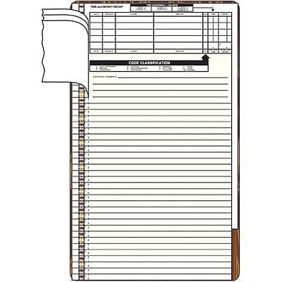 pre printed timekeeping slips quill com