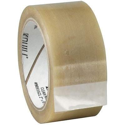 Quill PVC Tape in 2 Width; Clear, 6 Rolls per Pack, 55-yards, 6/Pack