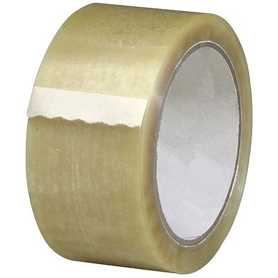Quill 3.1 Mil Hot Melt Packaging Tape; 110 yds, Tan, 6/Pack