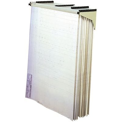 Safco® Drop/Lift Wall Rack for Large Flat Documents