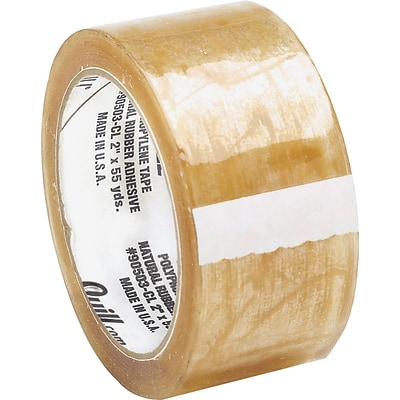 Quill 3 Medium-duty Natural Rubber Tape; 55 yds, Clear, 2.3 mil, 6/Pack