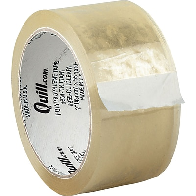Quill 1.9 Mil Hot Melt Shipping Packaging Tape; Clear, 55 yds, 6/Pack