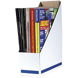 Quill White Corrugated Magazine Files