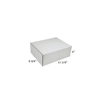 White Corrugated Mailers, 11-1/8 x 8-3/4 x 4, 50/Bundle (M1184)