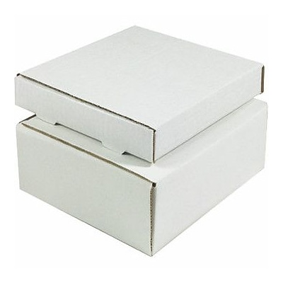 White Corrugated Mailers, 12 x 11-3/4 x 3-1/4, 50/Bundle