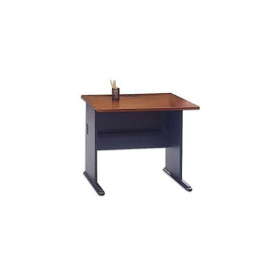Bush Business Cubix 36W Desk, Hansen Cherry/Galaxy, Installed