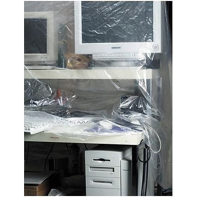Clear Poly Sheeting; 4 Mils Thick; 24Wx100L Roll
