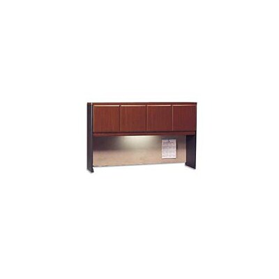 Bush Business Cubix 60W Hutch, Hansen Cherry/Galaxy, Installed
