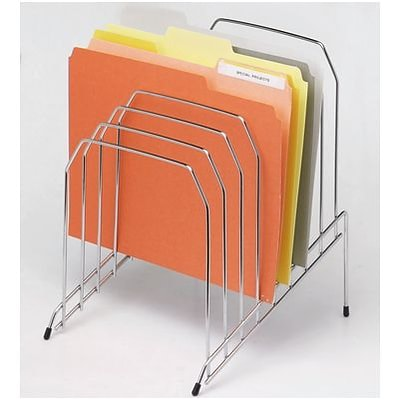 Quill Brand® Wire Desk Accessories; Step File, Chrome
