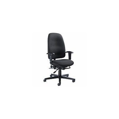 Global - Granada High-Back Multi-Tilter Managers Chair, Navy Blue Fabric DBS