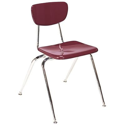 Virco® 16 Stack Chair for Grades 2-4; Burgundy