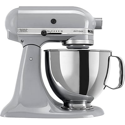 Kitchen Aid® Stand Mixers; 325-Watt Tilt-Head, Metallic Chrome