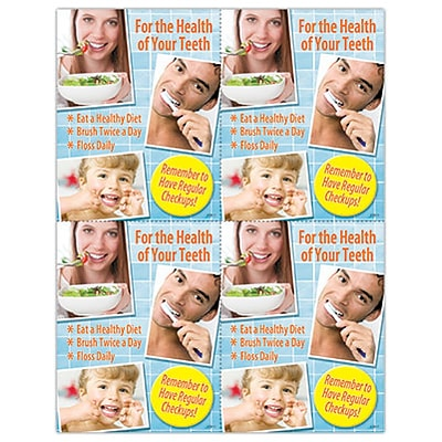 Photo Image Laser Postcards; For the Health of Your Teeth