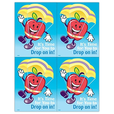 Graphic Image Laser Postcards; Apple Guy, Drop In