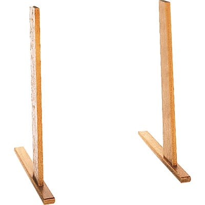 Wooden Mallet Optional Floor Stand for Wall-Mounted Literature Displays; Oak Finish