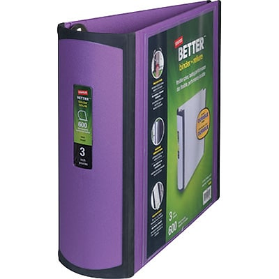Better View 3-Inch Slant D-Ring Binder, Purple (20246)