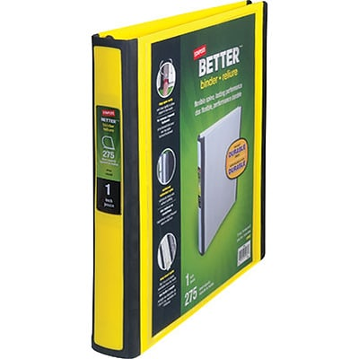 Better 1-Inch D-Ring View Binder, Yellow (19064)