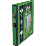 Staples® Better® D-Ring View Binders; 1 Green