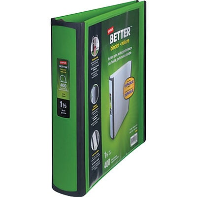 Better 1.5-Inch D-Ring View Binder, Green (19059)