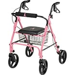 Medline® Rollator with 8 Wheels; Pink, Breast Cancer Awareness