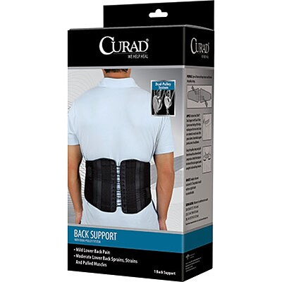 Curad® Back Support with Dual-Pulley System; 2-XL