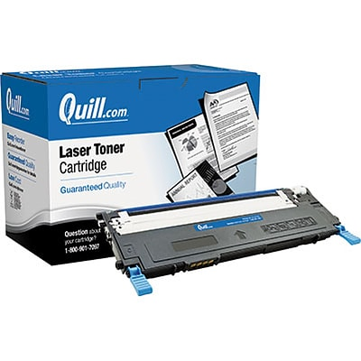 Quill Brand Remanufactured Laser Toner Cartridge Comparable to Samsung® CLT-C409S Cyan (100% Satisfaction Guaranteed)