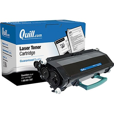 Quill Brand Remanufactured Laser Toner Cartridge Comparable to Lexmark™ E260A11A Black (100% Satisfaction Guaranteed)