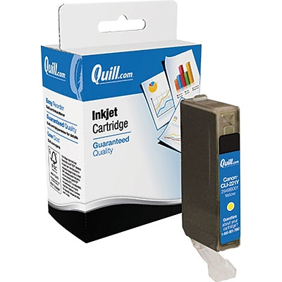 Quill Brand Remanufactured Canon CLI-221 Yellow Standard  Cartridge  (CLI-221 YELLOW) (100% Satisfaction Guaranteed)